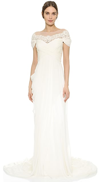 4556b4a1e53 Marchesa Grecian Illusion Gown | SHOPBOP