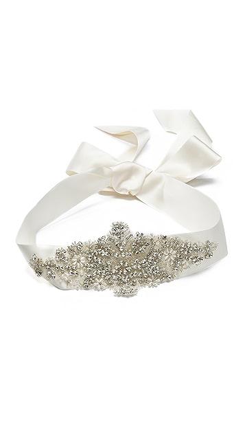 Marchesa Crystal Ribbon Belt