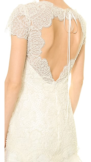 Marchesa Re-Embroidered Lace Gown