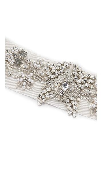 Marchesa Crystal Embroidered Belt