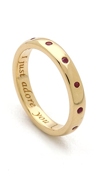 Monica Rich Kosann I Just Adore You Ruby Ring Charm