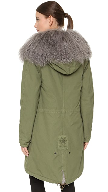 Mr & Mrs Italy Army Parka with Fur Lining