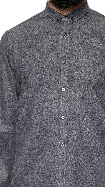 Mr. Start Mini Collar Flannel Shirt