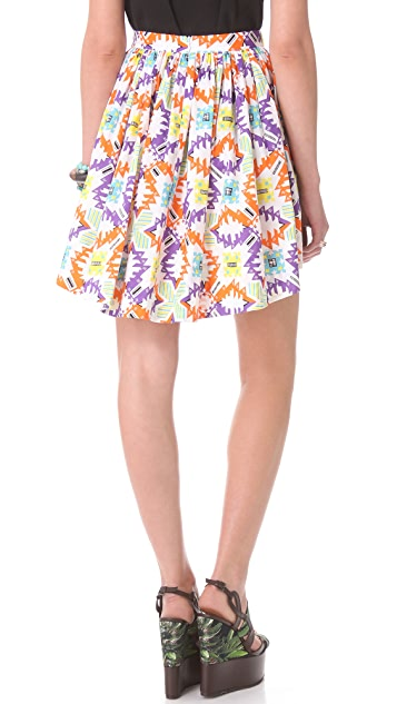 MSGM Tribal Hi Lo Skirt