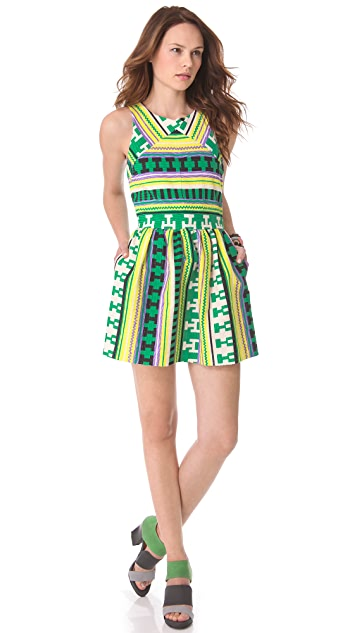 MSGM 3D Ikat Shift Dress