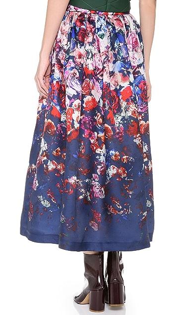 MSGM Floral Long Skirt