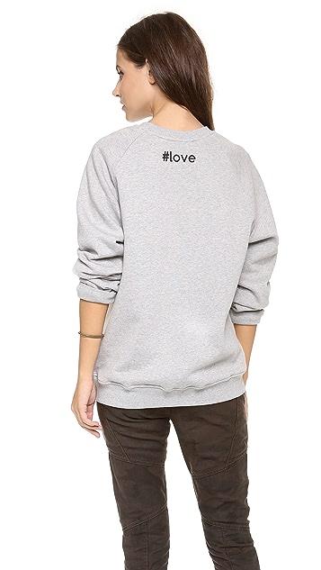 MSGM Heart Sweatshirt