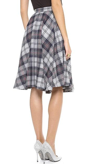 MSGM Plaid Skirt