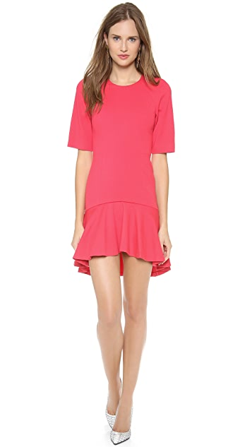 MSGM Short Sleeve Ruffle Dress