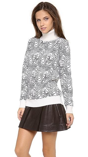 MSGM Turtleneck Zebra Sweater