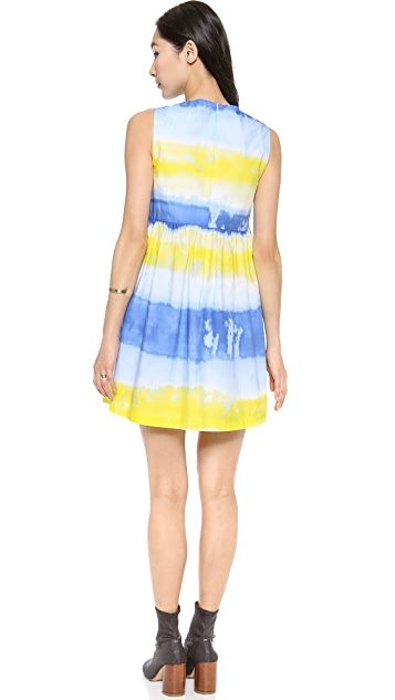 MSGM Cotton Tie Die Dress