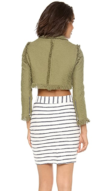 MSGM Cropped Military Jacket