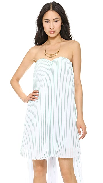 MSGM Strapless High Low Dress