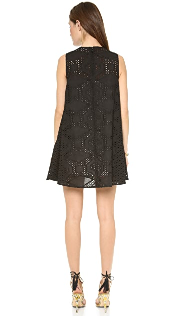 MSGM Embroidered Shift Dress