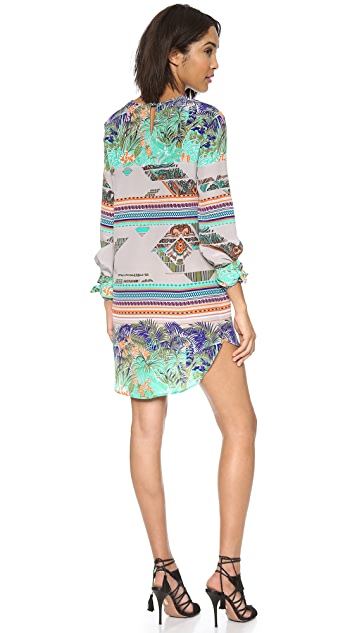 MSGM Printed Long Sleeve Dress
