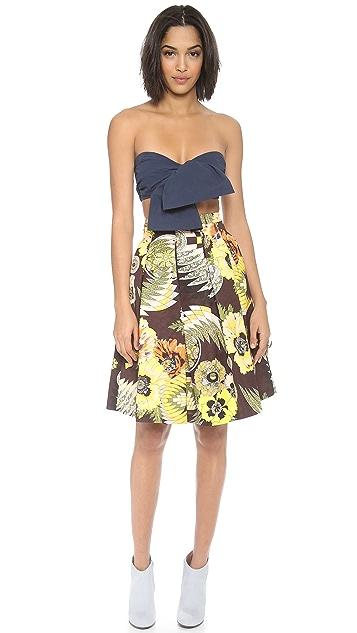 MSGM Printed Skirt
