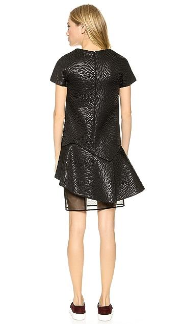 MSGM Zebra Neoprene Structured Dress