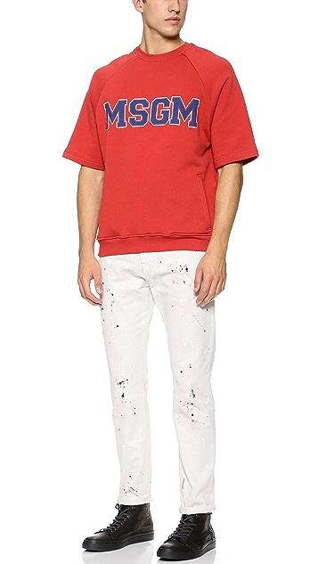 MSGM Short Sleeve Sweatshirt