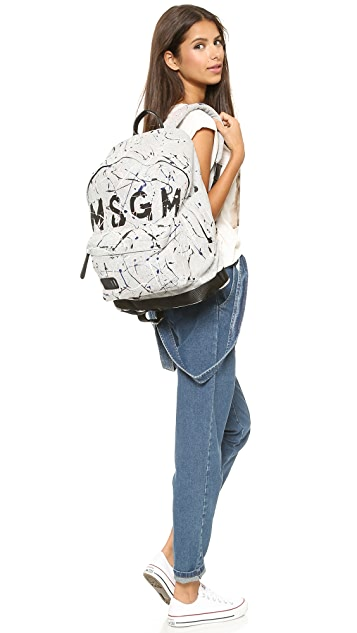 MSGM Painted Backpack