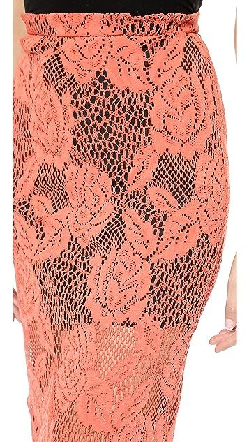 MSGM Laser Cut Pencil Skirt