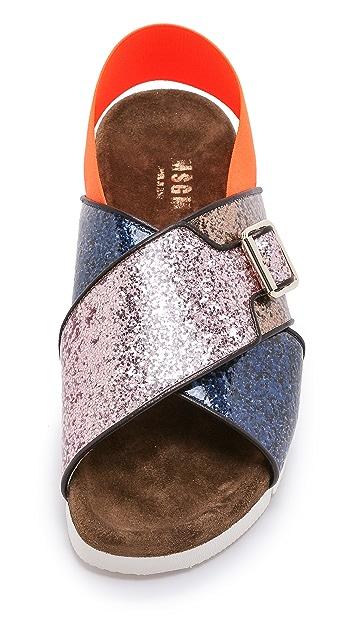 MSGM Crisscross Sandals