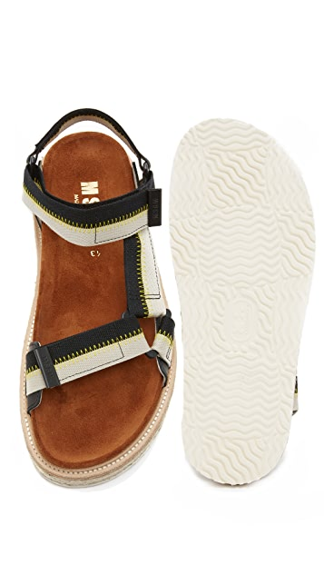 MSGM 2 Strap Outdoor Sandals