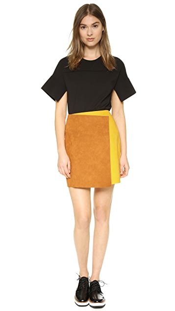 MSGM Colorblock Skirt
