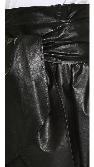 MSGM Tie Waist Skirt