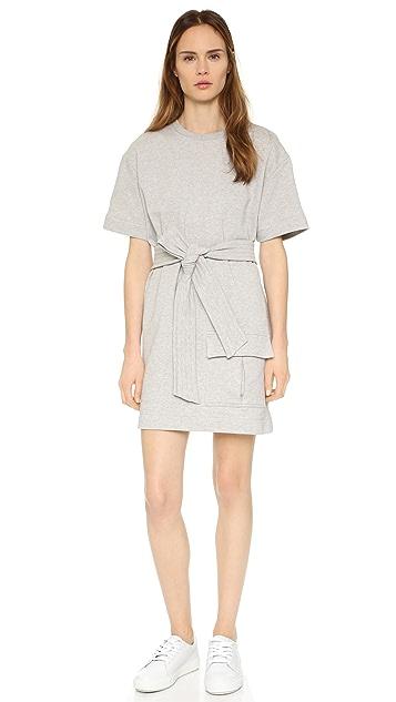 MSGM Sweatshirt Dress with Tie