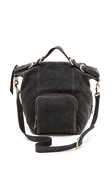 MS by Martine Sitbon Suede Shoulder Bag