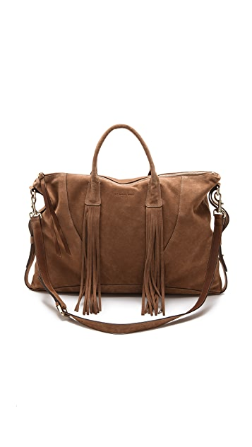 MS by Martine Sitbon Suede Fringed Satchel