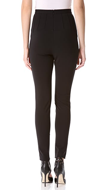 Mugler High Waist Skinny Pants