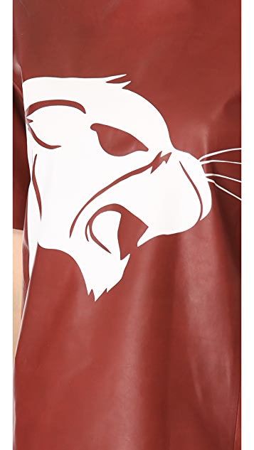 Mugler Leather Panther T-Shirt