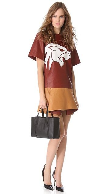 Mugler Origami Leather Skirt