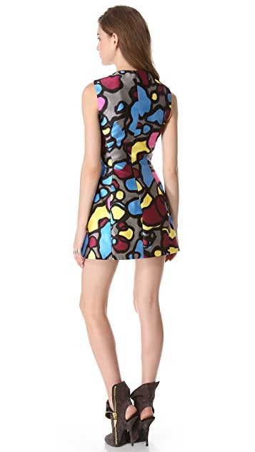 Mugler Sleeveless Printed Dress