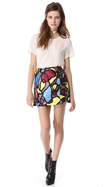 Mugler Printed Skirt