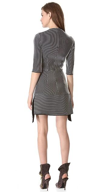 Mugler Ribbed Dress