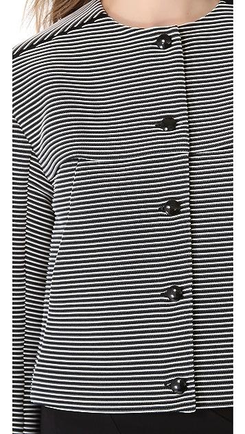 Mugler Knit Rib Cropped Jacket