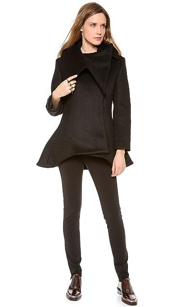 Mugler Black Short Coat