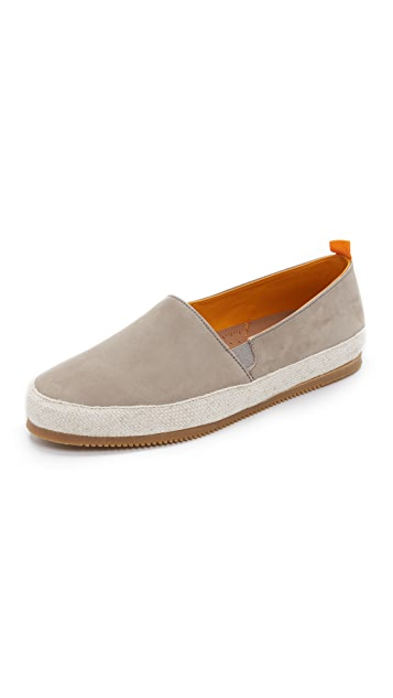 MULO Light Gray Nubuck Espadrilles