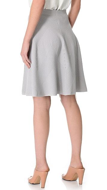 MAISON ULLENS Embossed Knit Skirt