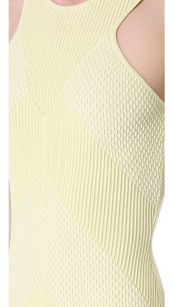 MAISON ULLENS Embossed Knit Tank Dress