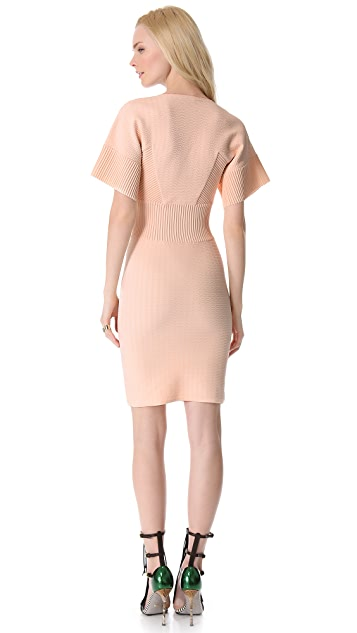 MAISON ULLENS Embossed Knit Dress