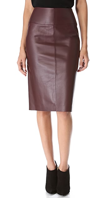 MAISON ULLENS Leather Pencil Skirt