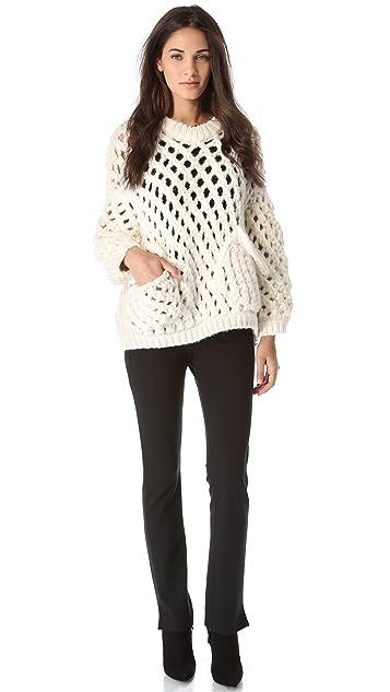 MAISON ULLENS Crochet Knit Sweater