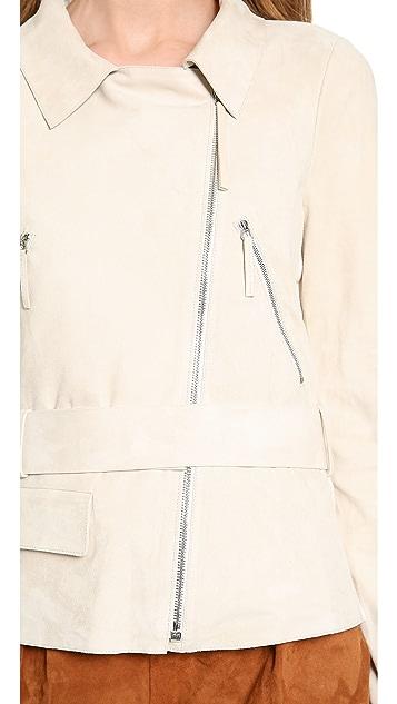 MAISON ULLENS Suede & Knit Jacket