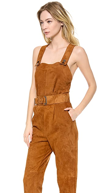 MAISON ULLENS Leather Jumpsuit