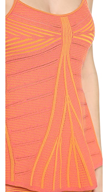 MAISON ULLENS Pointelle Double Knit Tank