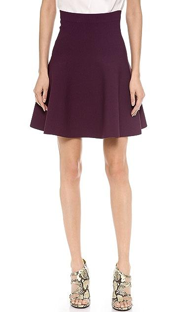 MAISON ULLENS Herringbone Knit Skirt