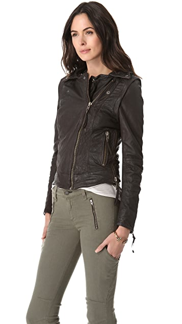 Muubaa Charme Aviatress Leather Jacket / Vest